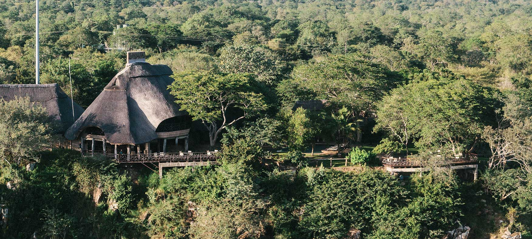 An ariel view of Chilo Gorge Lodge